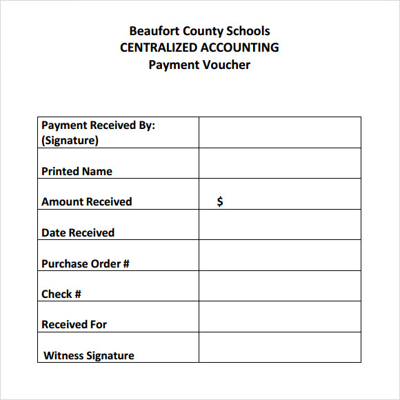 payment voucher template free .