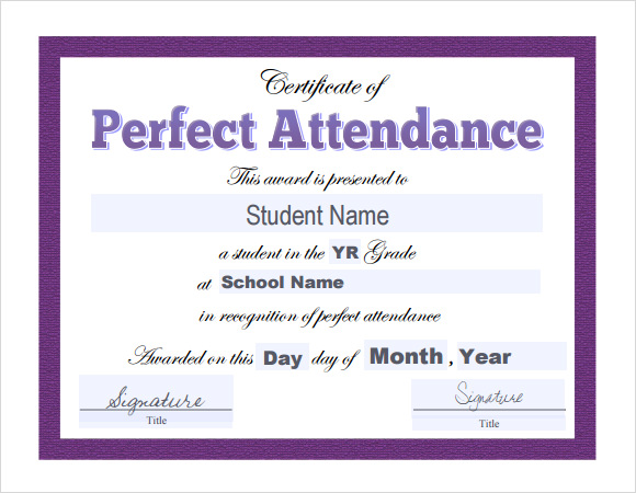 16 sample attendance certificate templates to download sample templates. Black Bedroom Furniture Sets. Home Design Ideas