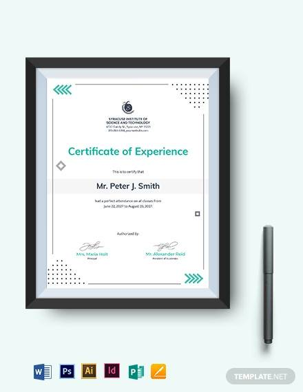 perfect attendance certificate template1