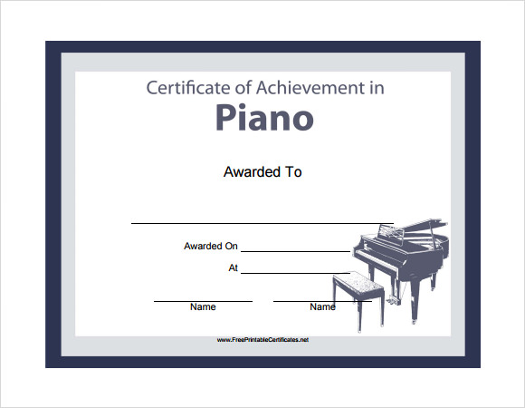 Music Certificate Templates - Download Documents in PDF , PSD ...
