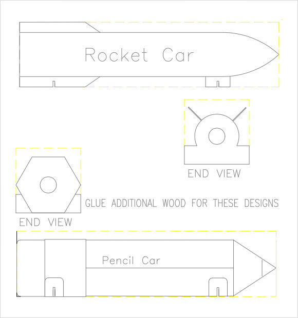 Sample pinewood derby templates to download
