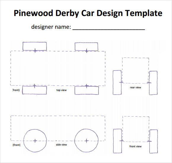 Pinewood Derby Template PDF