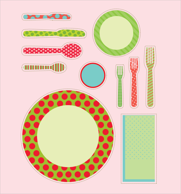 8 Sample Place Settings PSD Vector EPS PDF Word – Place Setting Template