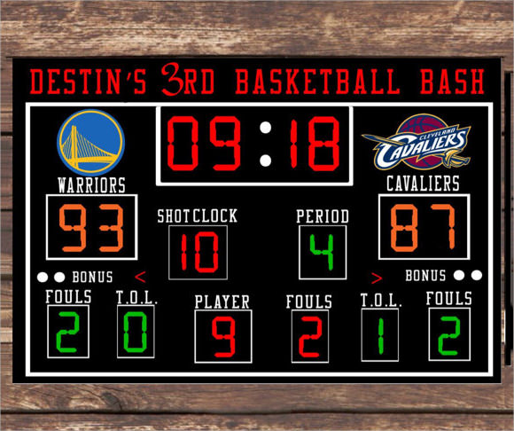 9 Sample Scoreboards PSD Vector EPS – Scoreboard Template