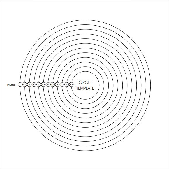 9 amazing circle templates to download for free sample for 9 inch circle template