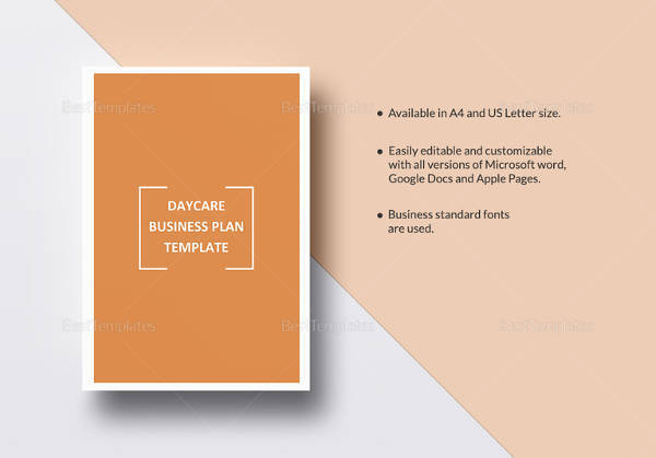 printable daycare business plan template