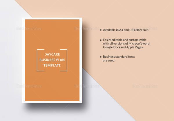 21 simple business plan templates sample templates printable daycare business plan template wajeb Images