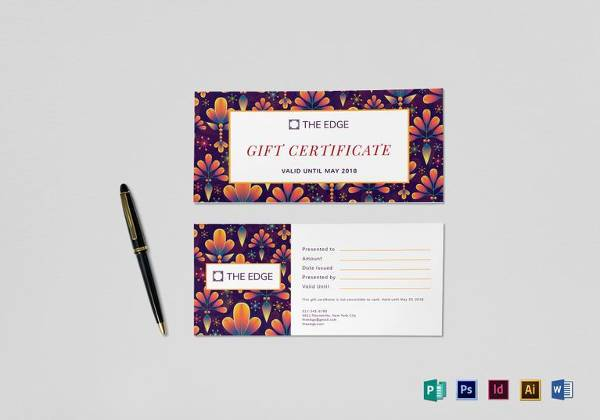 printable gift certificate template to edit