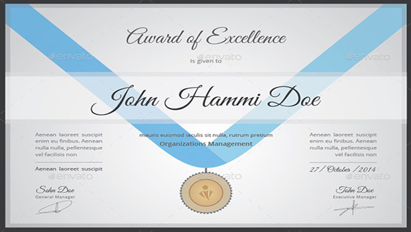 recognition certificate template 7 download free documents in pdf