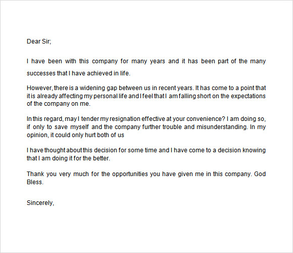 notice of resignation template 7 download free documents in word