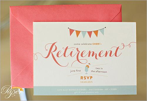 retirement invitation template .
