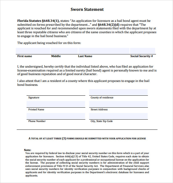 Affidavit Form In Pdf