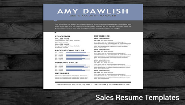 Free 9 Sample Sales Resume Templates In Pdf Word Psd