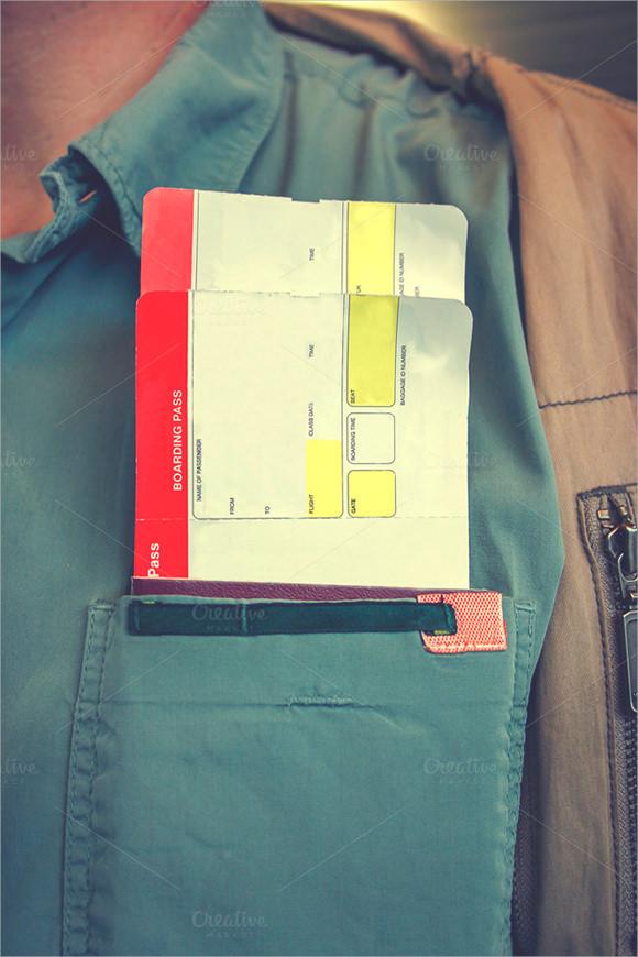 sample boarding passes template