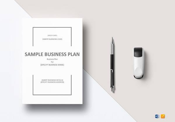 sample business plan word template to print