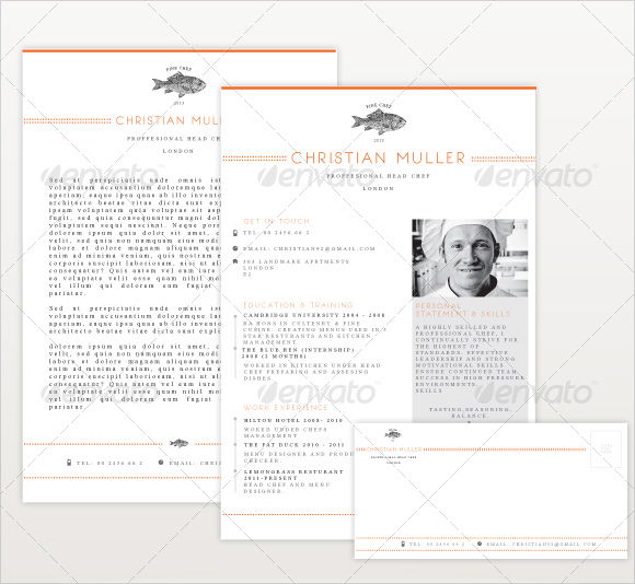 9 Chef Resume Templates Download Documents in PDF Word PSD – Resume Template for Chef