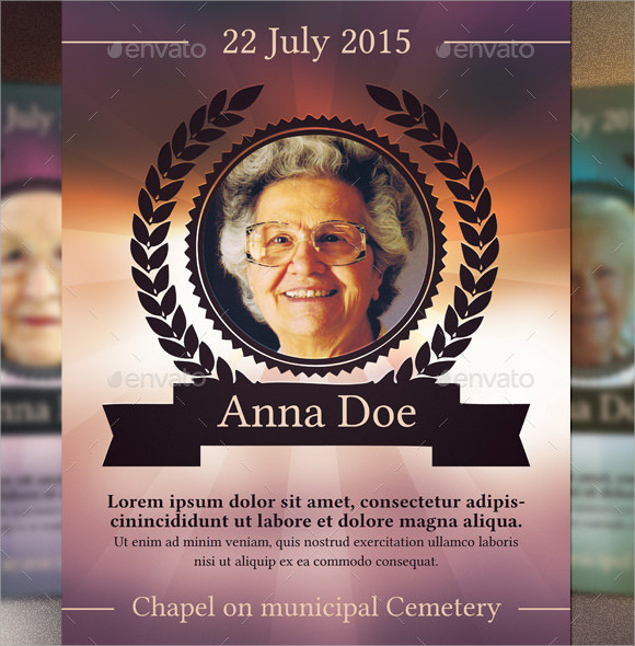 sample funeral notice template
