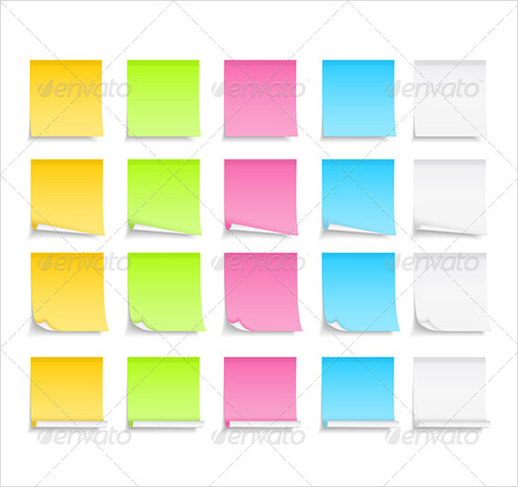 sample sticky notes