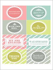 save the date free printable labels