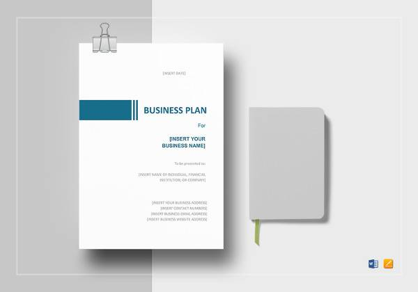 simple business plan template in word