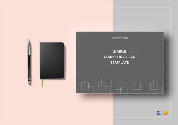simple marketing plan template to print