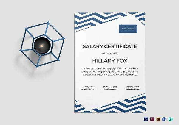 simple salary certificate template1