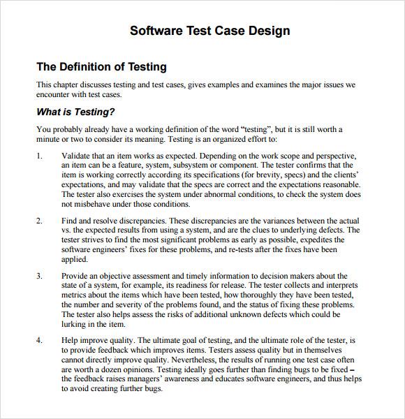 software test case design
