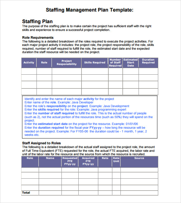 12+ Staffing Plan Templates – Free Sample, Example, Format Download!