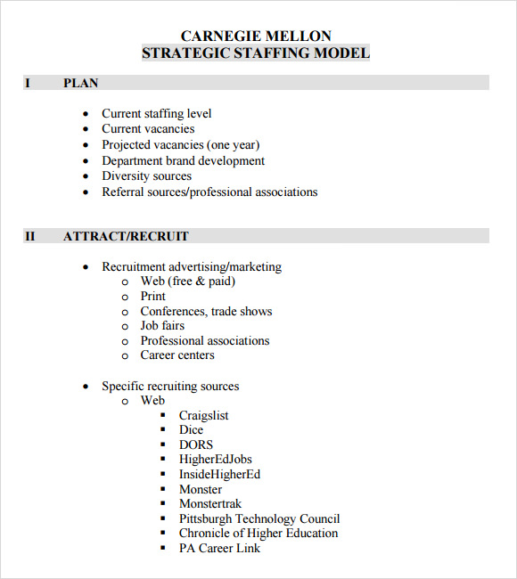 Sample Staffing Model   Documents In Pdf Excel