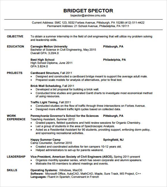 standard format for resume antioch resume format standard