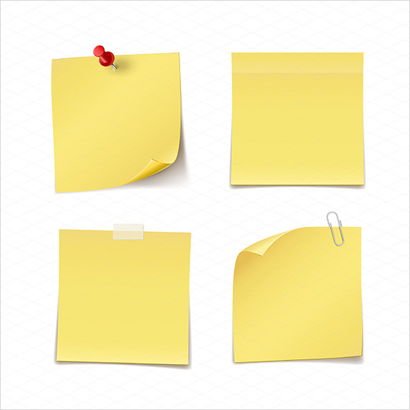 Sample Sticky Notes  Psd Vector Eps