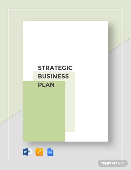 Free 10 Sample Strategic Business Plan Templates In Google