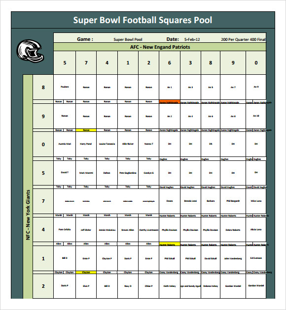 Sample Football Pool - 7+ Documents in PDF, Word, Excel