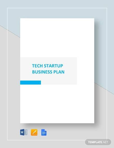 Free 18 Sample Startup Business Plan Templates In Google