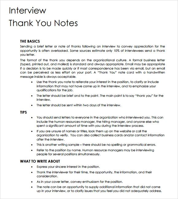 thank you note template interview2