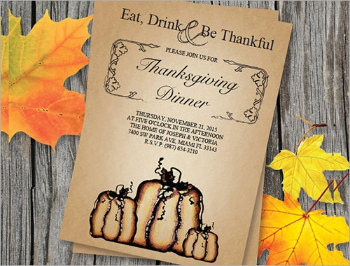 Thanksgiving Halloween Invitation Template