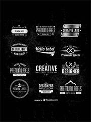 typographic labels set