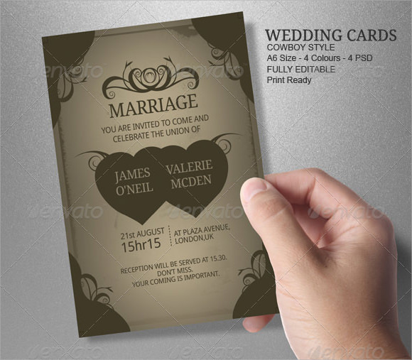 8 amazing sample wedding card templates to download