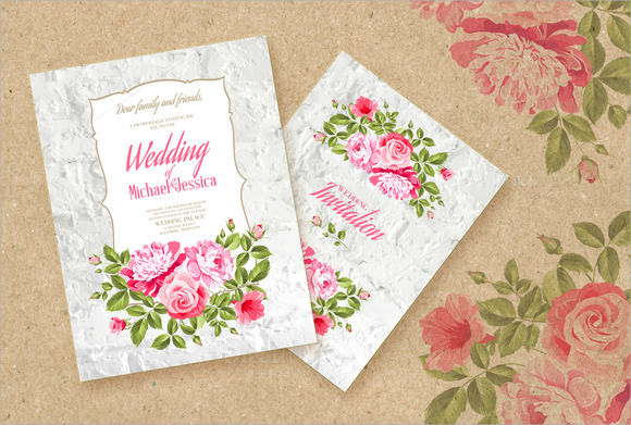 Sample Wedding Invitation Templates as perfect invitations example