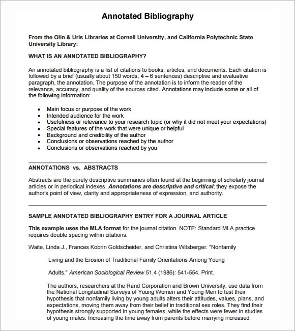 Purdue OWL: Annotated Bibliographies