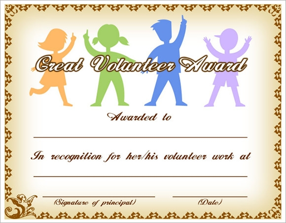 award templates for students