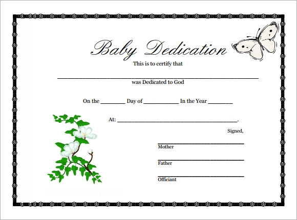 Baby dedication certificate 9 download free documents in pdf baby dedication certificate free yadclub Image collections