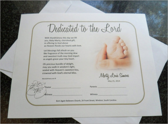 Cool Baby Dedication Certificates Templates Pictures Inspiration