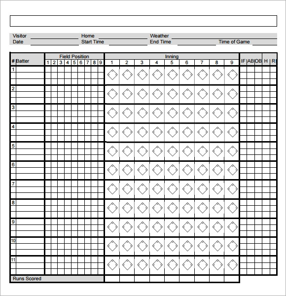 Basketball Score Sheets Printable Free printable basketball score – Canasta Score Sheet