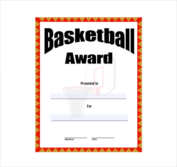 8 basketball certificate templates download free documents in pdf basketball award template free yadclub Gallery