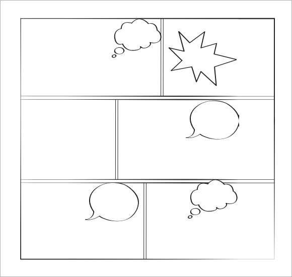 7 comic book samples sample templates for Printable blank comic strip template for kids