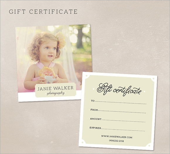 free 11  sample attractive photography gift certificate