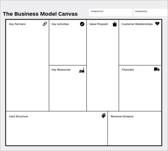 Business model canvas template business model canvas template 7 download free documents in pdf friedricerecipe Image collections