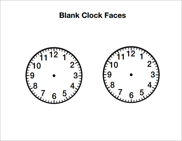 clock template pdf