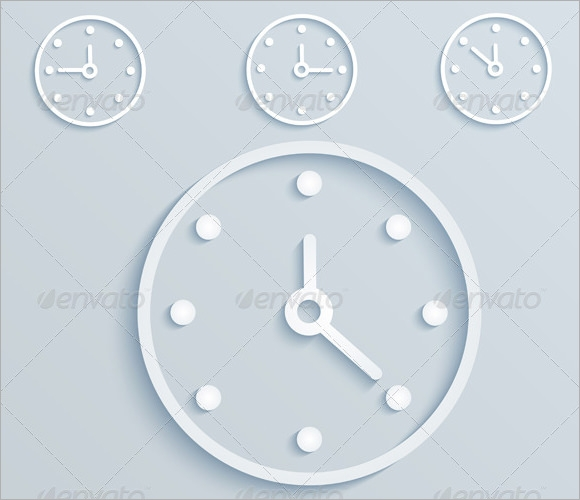 clock template vector